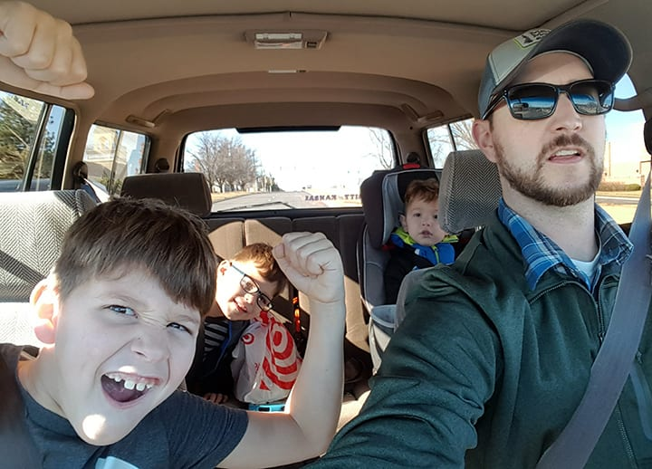 Running Errands in the Land Cruiser