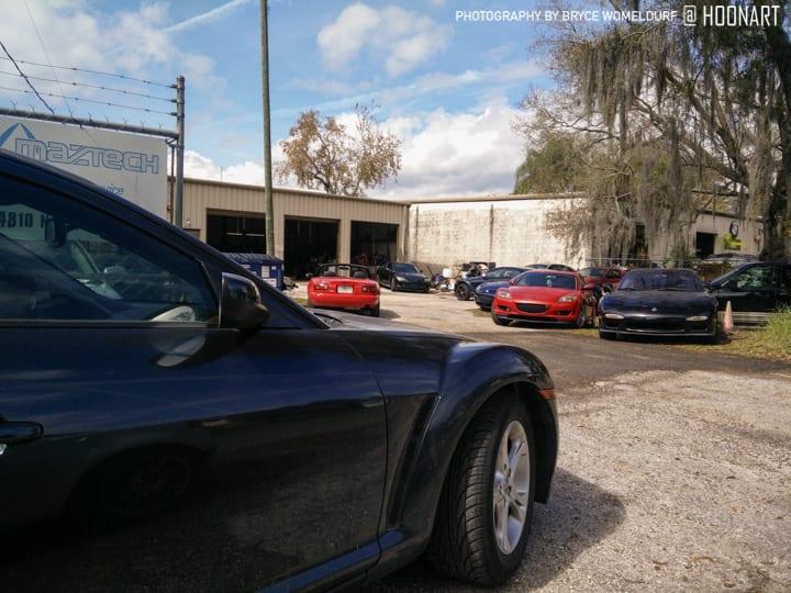 Miata parked at Maztech Tampa