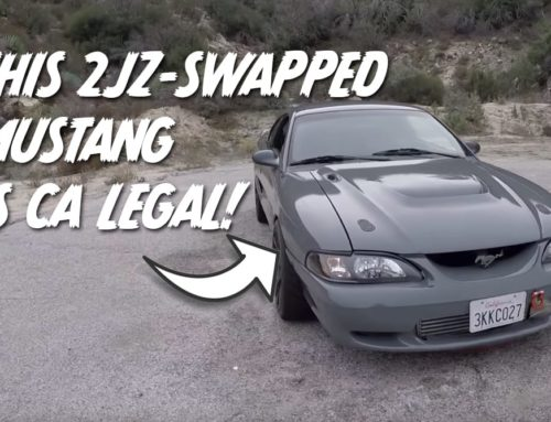 This 1995 Ford Mustang GT has a 2JZ and it's CA legal