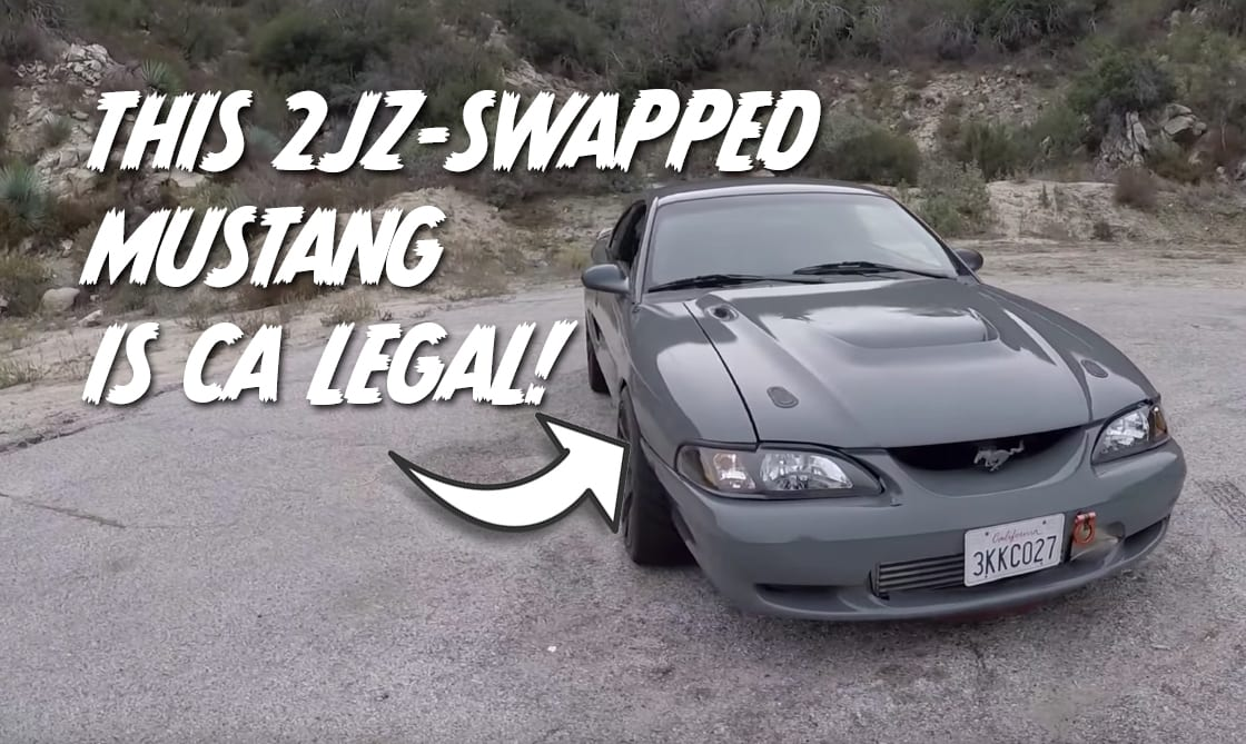 Ford Mustang with 2JZ swap