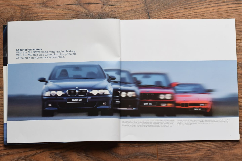 1998 BMW M5 E39 Brochure advertising print paper