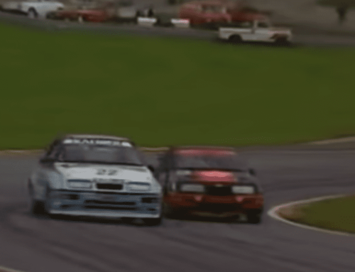 Steve Soper and Andy Rouse battle it out at Brands Hatch in 1988