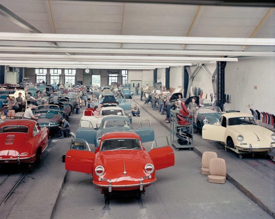 Reutter Porsche 356 production line