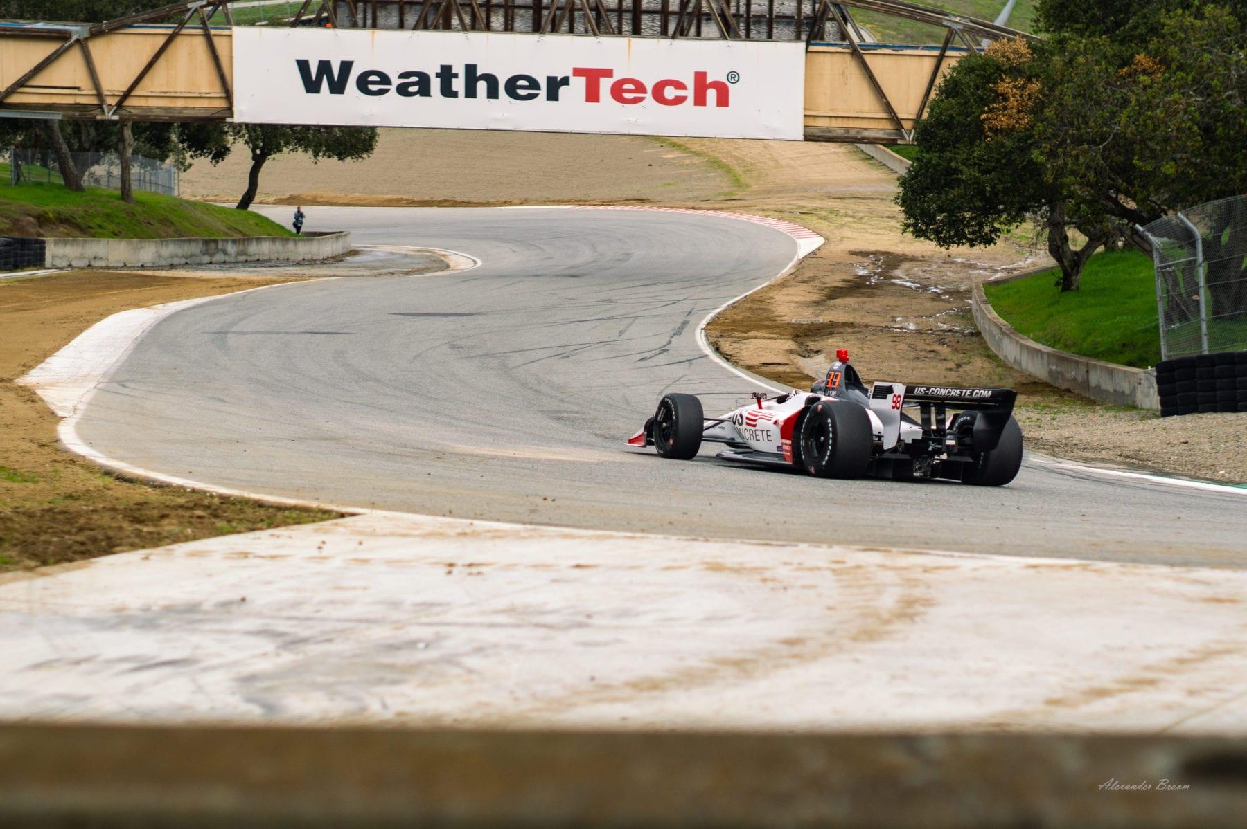 IndyCar Testing at WeatherTech Raceway Laguna Seca