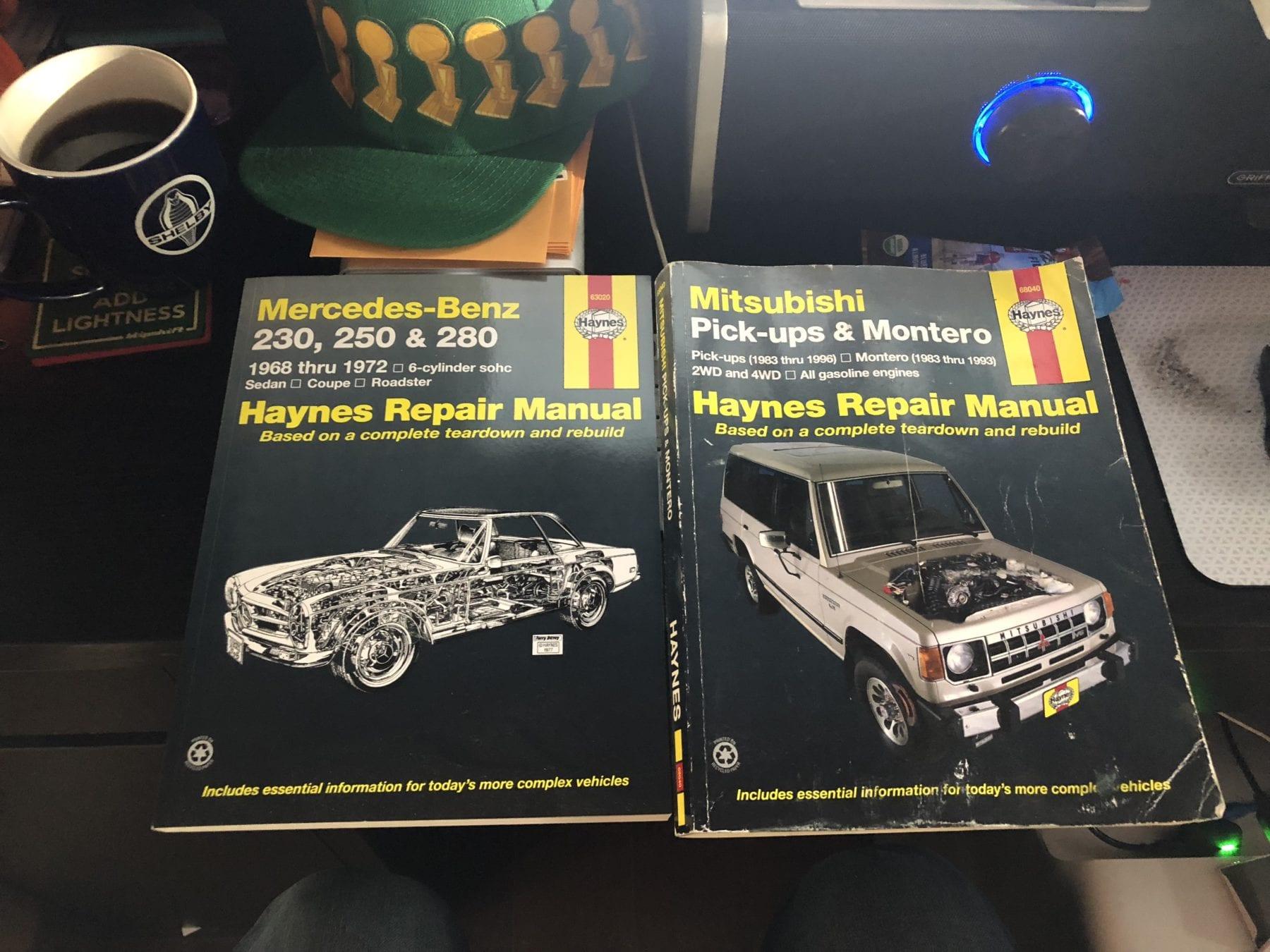 Mercedes-Benz and Mitsubishi Haynes Manuals