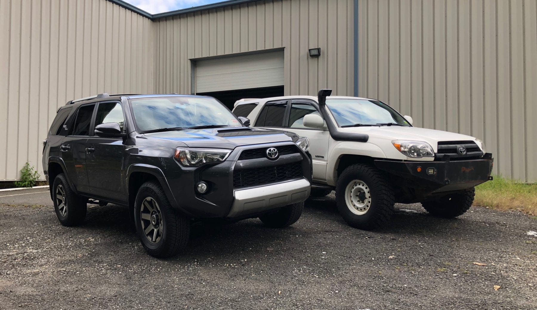 "2018 Toyota 4Runner TRD Off Road and 2005 Toyota 4Runner Limited ""The Stormtrooper"""
