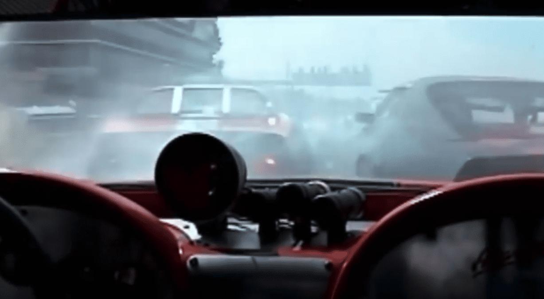 huge vintage car crash at road America 2005