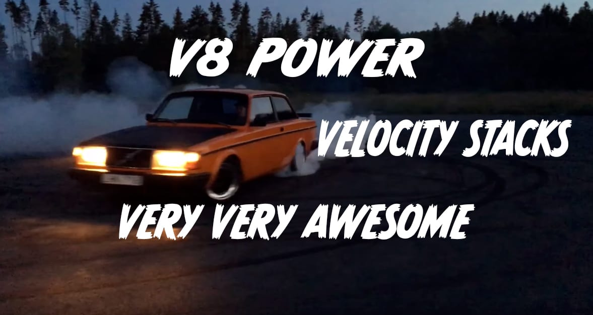 Chevy V8-swapped Volvo 242