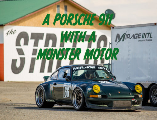 On track with a monster Porsche from Mirage International
