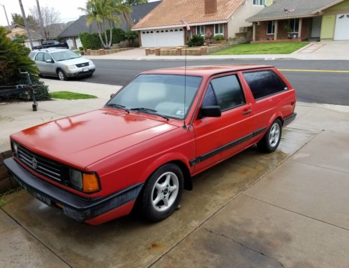 Someone rescue this 1990 Volkswagen Fox wagon