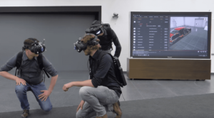 VRgineers headset tech at Audi