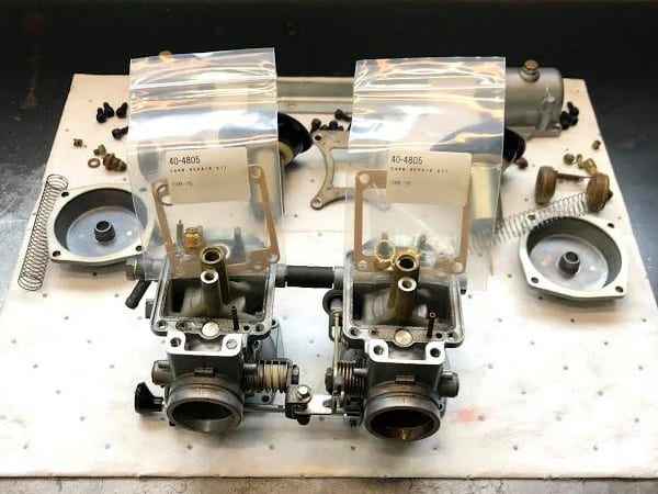 The carbs for Eric's XS400E