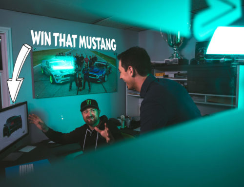 Vaughn Gittin Jr and Joey Logano are building a monster Mustang to give away
