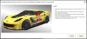 The C7.R car cover is the best accessory for your C7 Vette