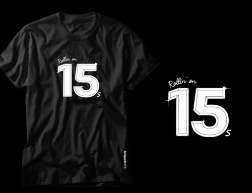 Rollin' on 15s!Our latest shirt collaboration with Blipshift