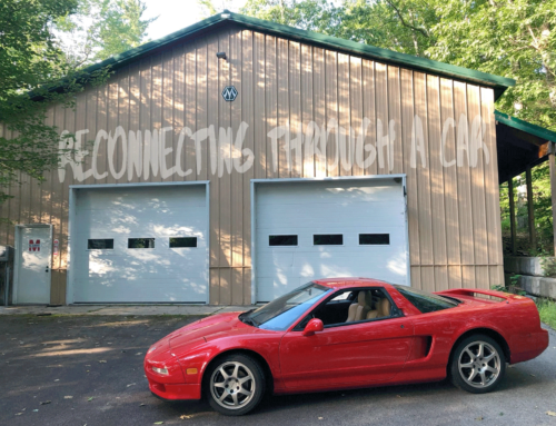 The first-gen Acura NSX on a private track is an automotive Ouija board