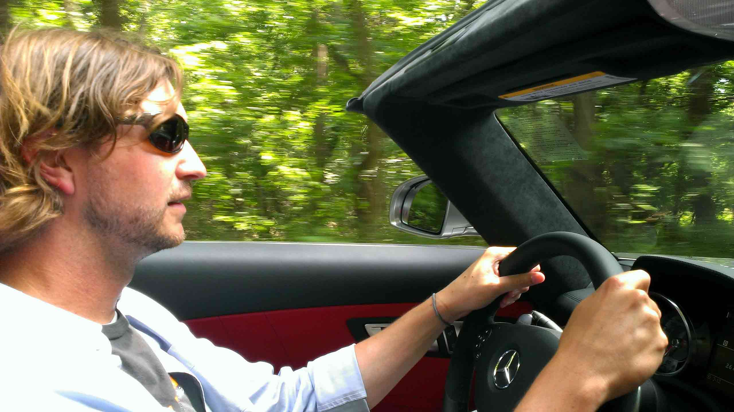 Driving an SLS AMG Roadster