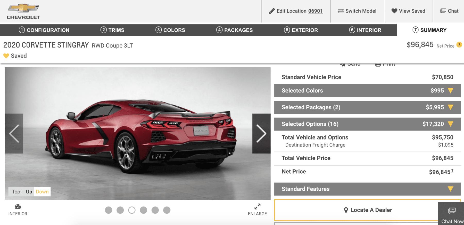 2020 Chevrolet C8 Corvette