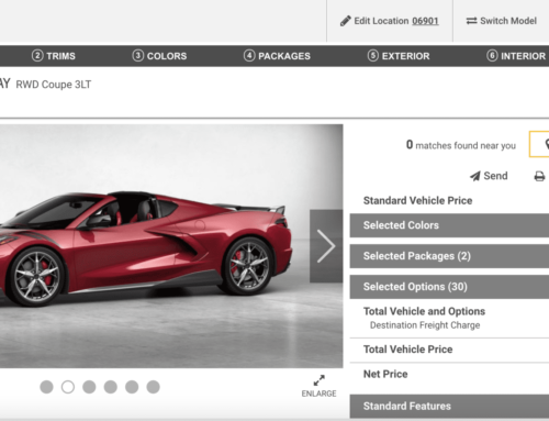"""The """"base"""" C8 Corvette Coupe can be optioned to over $100k"""
