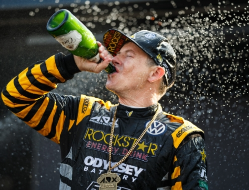 Tanner Foust sips the season-ending champagne to claim the 2019 ARX championship