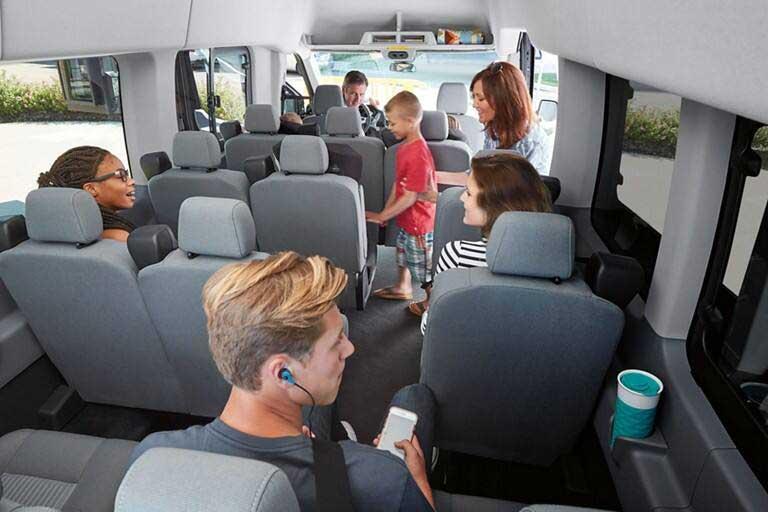 Ford Transit 15-passenger layout