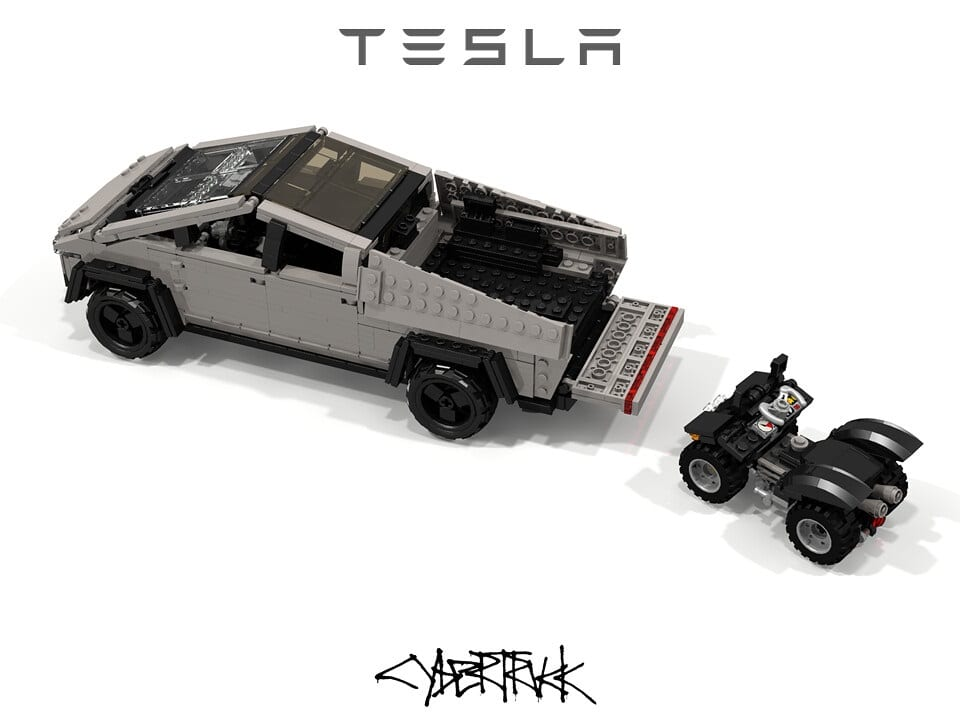 Lego Tesla Cybertruck looks better than the real thing ...