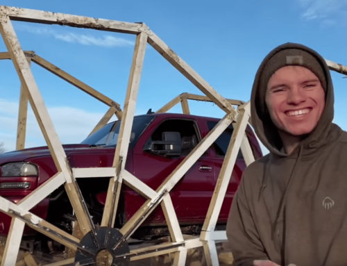 Watch this truck try to drive on 20-FOOT WHEELS