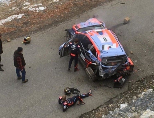 Tanak crashes at WRC Rally Monte Carlo