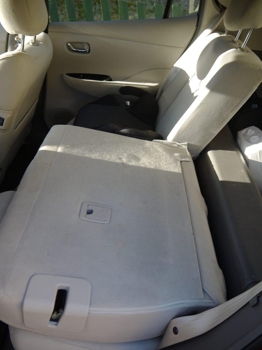 nissan leaf folded rear seat