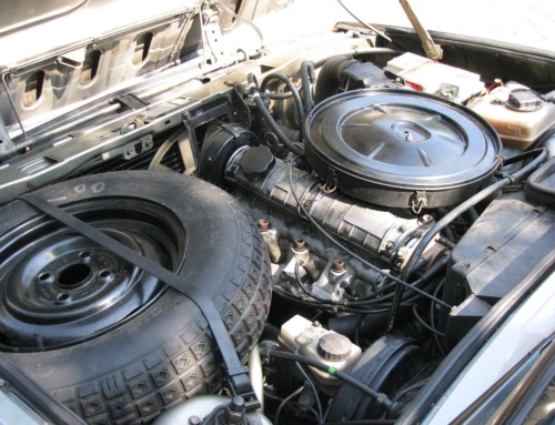 Should spare tires be placed in the engine bay again?
