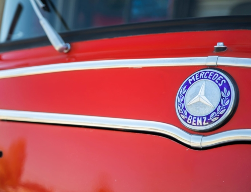 This 1965 Mercedes-Benz fire truck is hot