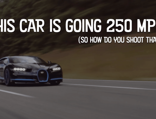 How do you shoot car-to-car footage of a Bugatti Chiron at 250 mph?