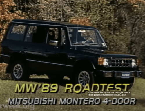 Go back in time with a MotorWeek review of the new 1989 Mitsubishi Montero