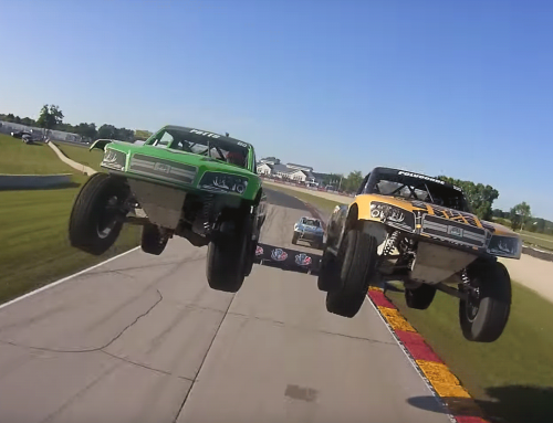 Super Stadium Trucks look awesome from a bumper cam