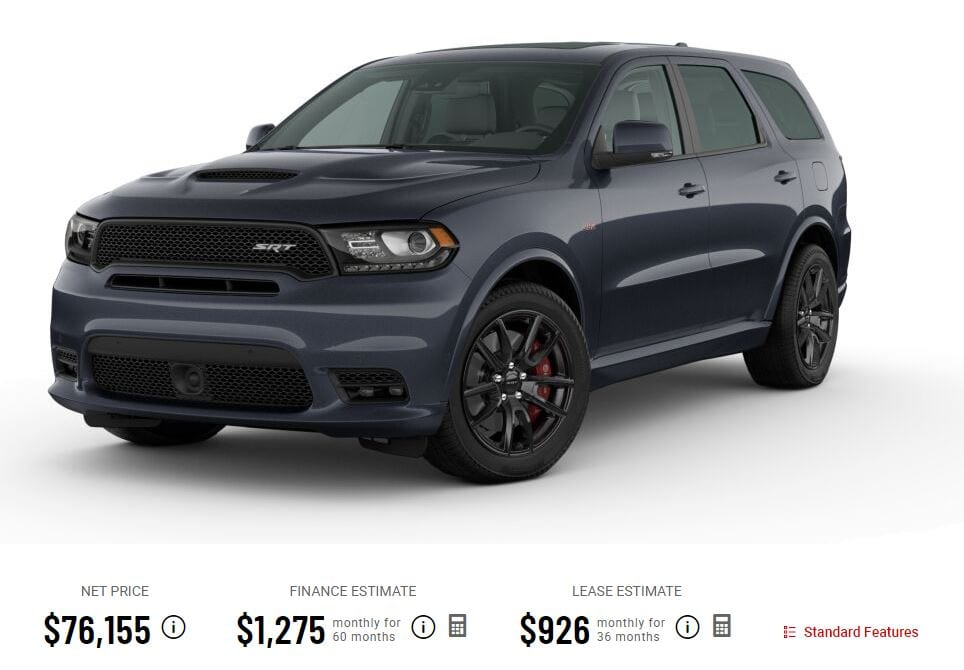 durango srt price