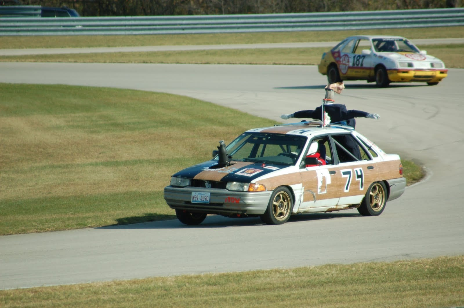 Ford Escort on race track
