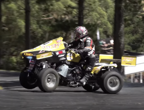 Watch this insane racing quad with active aero and superbike power