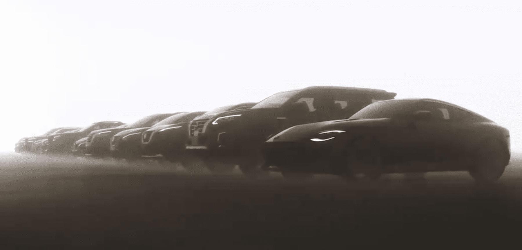Line of next Nissan models