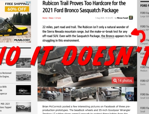Ford Bronco tested on Rubicon Trail and performs how it's supposed to