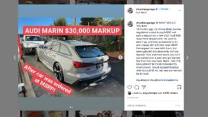 dealer markup on a new Audi RS6 Avant