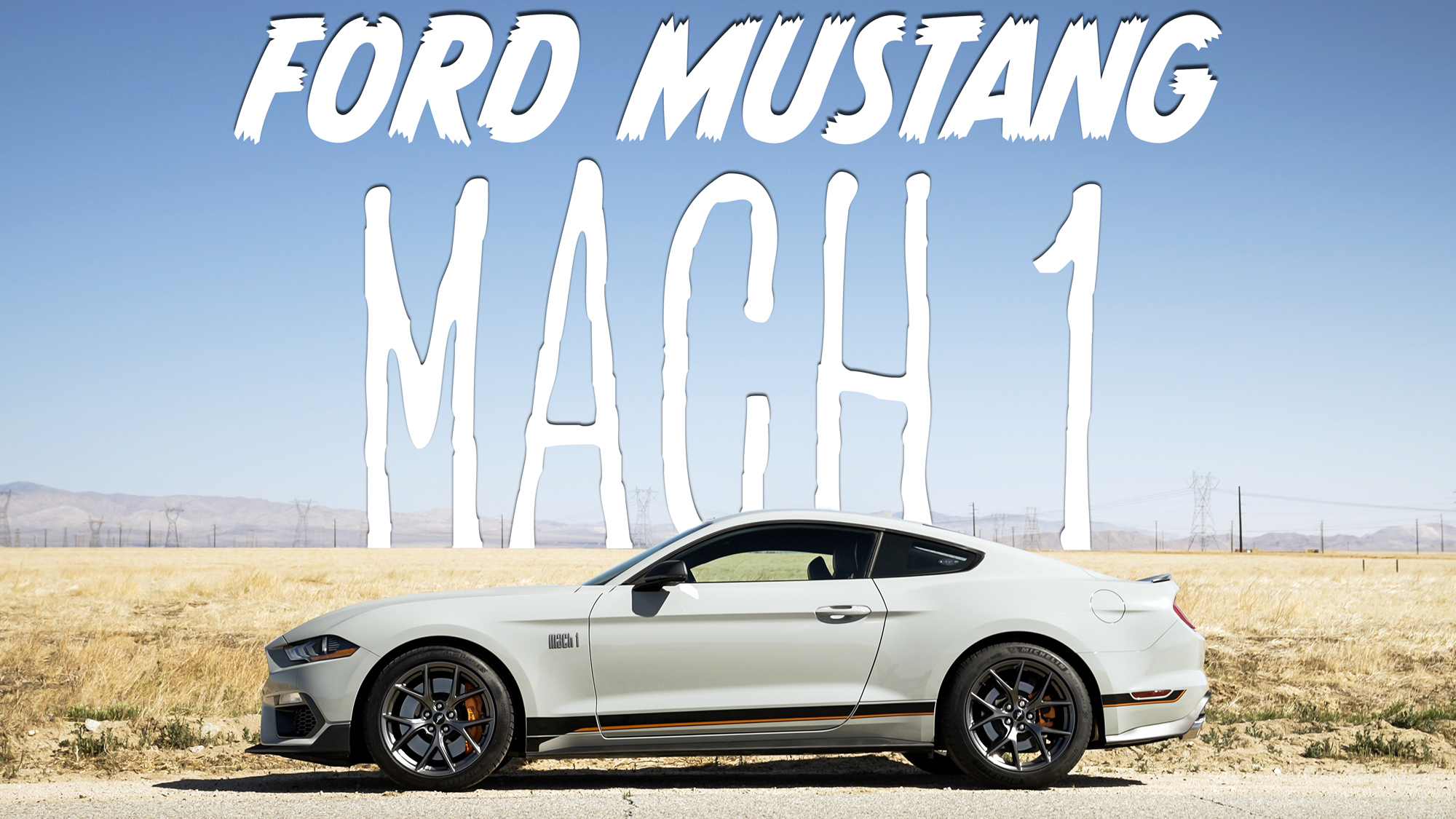 2021 Ford Mustang Mach 1 on the road